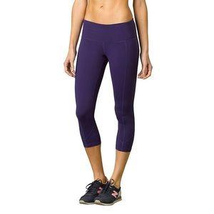 Prana Prism Capri Leggings Purple Cropped Workout Yoga Stretch Activewear S
